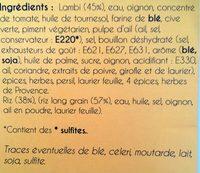 Fricassée de Lambi - Ingredients