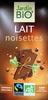 Chocolat Lait noisette Jardin Bio - Produit
