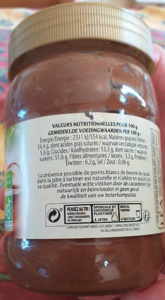 Pate à tartiner chocolat noisette - Voedingswaarden - fr