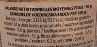 Chocolate Noisette - Informazioni nutrizionali - fr