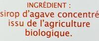 Sirop d'Agave équitable - Ingredientes - fr