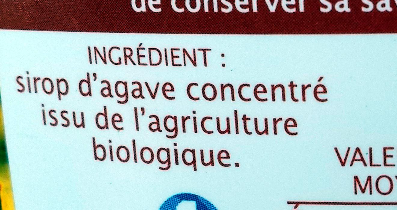 Sirop d'agave - Ingredients