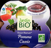 Dessert Biofruits Pomme Cassis Jardin Bio - Product