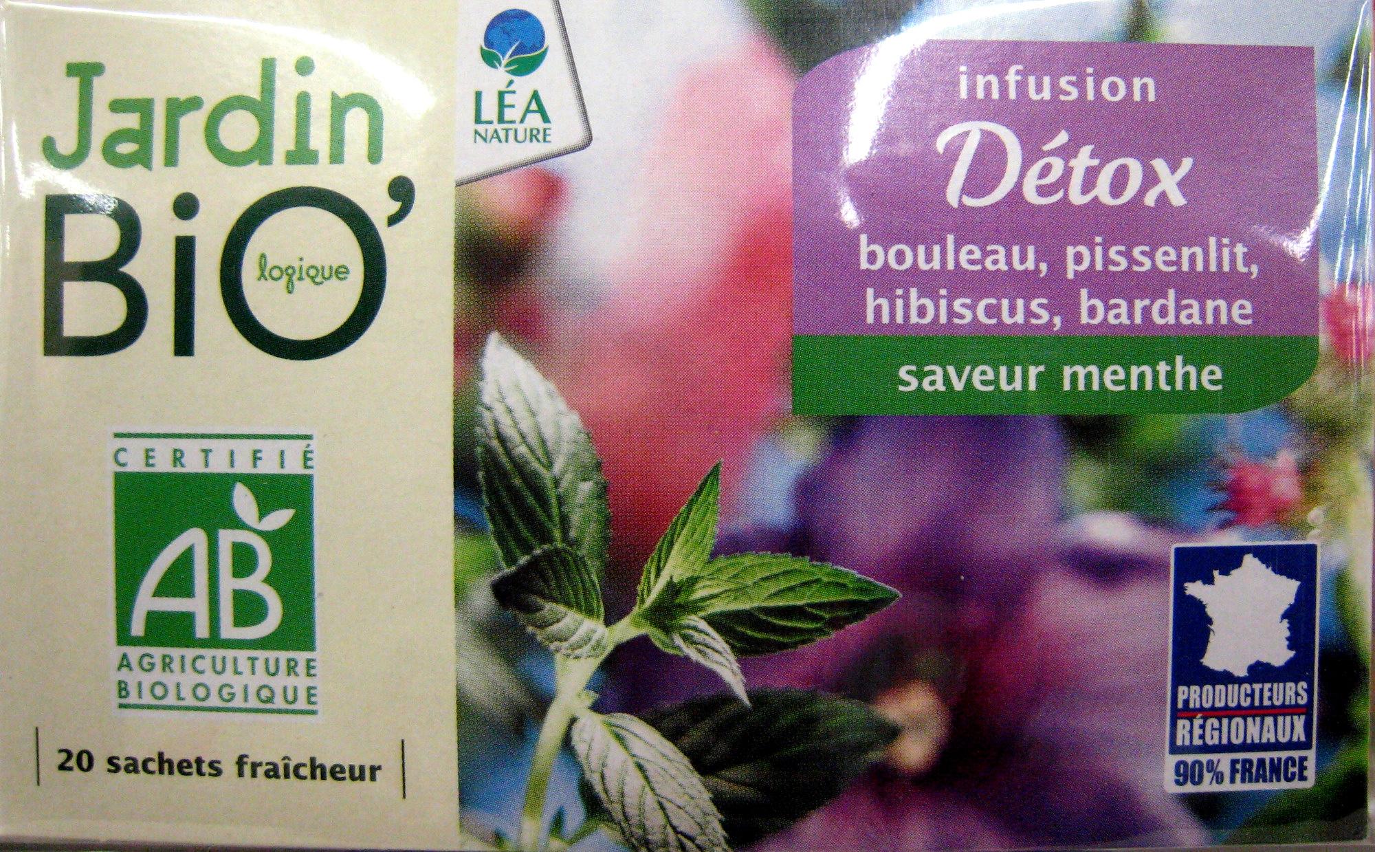 Infusion Détox Jardin Bio Jardin bio logique 30 g 20 sachets