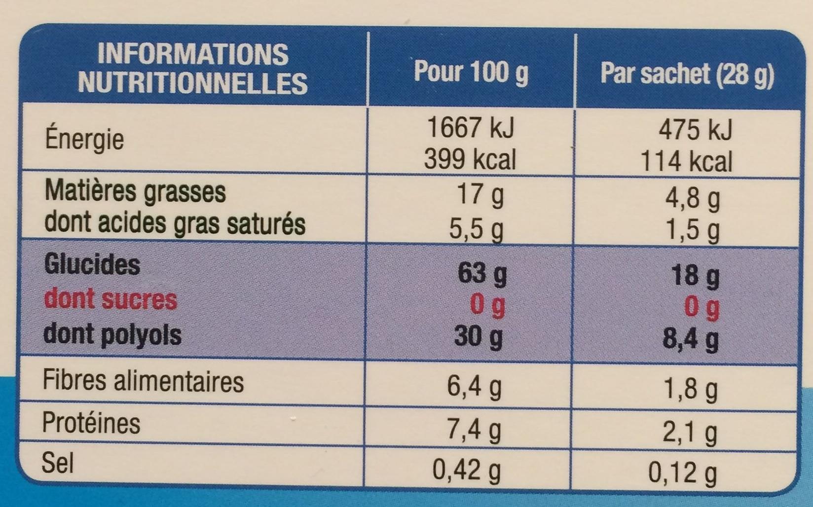 Fines Gaufres sans sucres - Voedingswaarden - fr