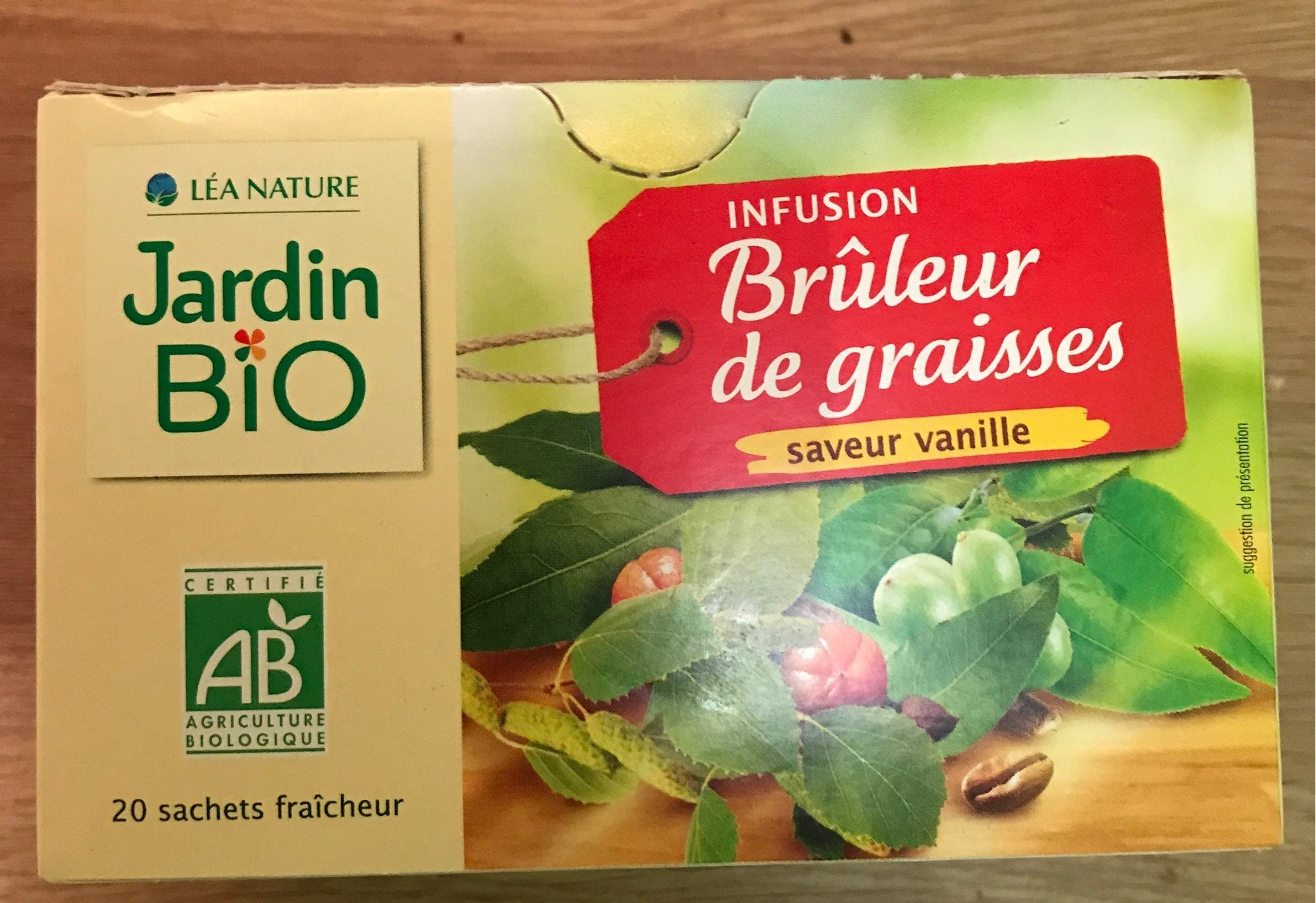 infusion brleur jardin bio vanille product - Jardin Bio