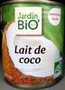 Lait de coco 200 ml Jardin Bio - Produit