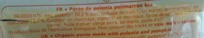 Jardin Bio - Polenta potimarron - Ingrédients - fr