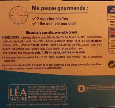 karelea speculoos - Ingrediënten - fr