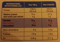karelea speculoos - Voedingswaarden - fr