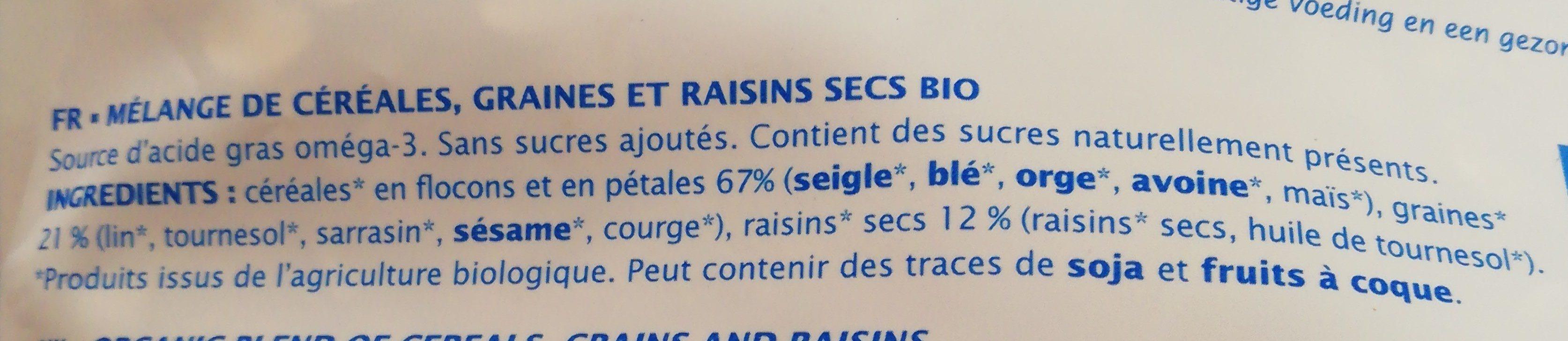 Müesli graines gourmandes - Ingrediënten - fr