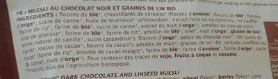 Muesli chocolat noir et graines de lin - Ingrediënten - fr