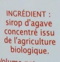 Sirop d'Agave équitable - Ingredienti - fr
