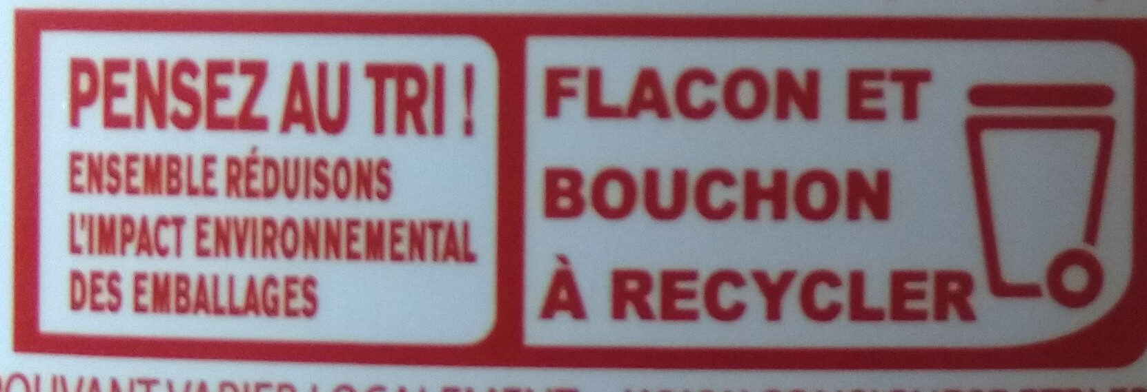 Sirop d'Agave équitable - Istruzioni per il riciclaggio e/o informazioni sull'imballaggio - fr
