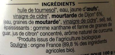 Mayonnaise - Ingredients