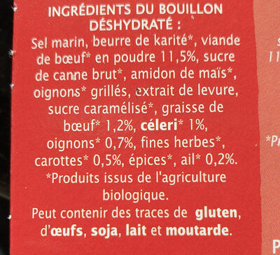 Bouillon cube Boeuf - Ingredienti - fr