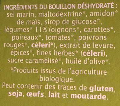 Bouillon cube légumes dégraissé - Ingrédients - fr