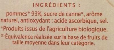 Pomme saveur caramel - Ingredients