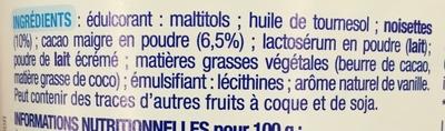 Pâte à tartiner Karéléa - Ingredients