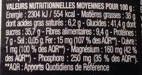 Pâte à Tartiner Noire - Nutrition facts