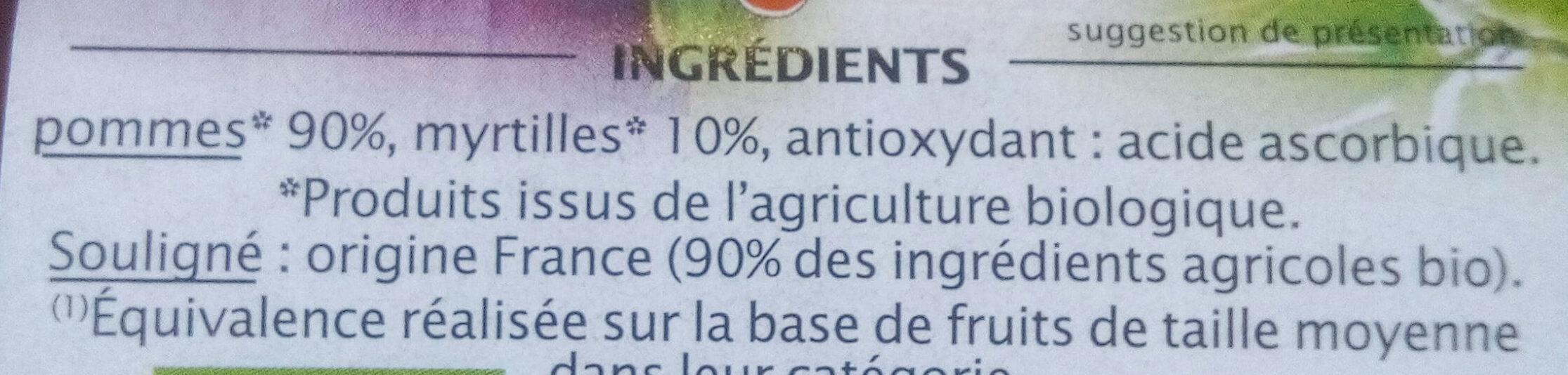 Pomme myrtille - Ingrediënten