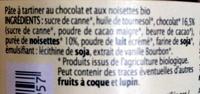 Pâte à tartiner Chocolat Noisette - Ingredienti - fr