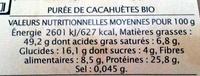 Beurre de cacahuètes Léa nature - Nutrition facts