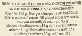 Pur beurre de cacahuète - Nutrition facts - fr