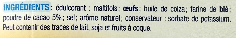 Moelleux cacao - Ingrédients