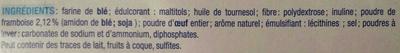 Tuiles Framboises - Ingrédients - fr