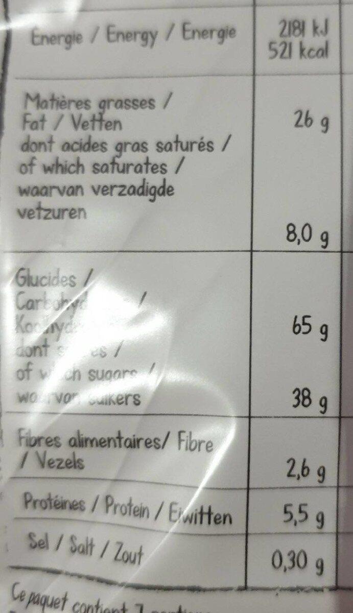 Nos gaufrettes croustillantes - Nutrition facts - fr