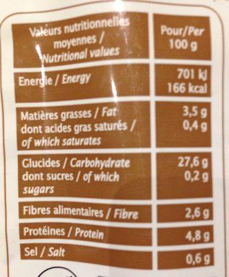 Duo Sarrasin et Riz - Nutrition facts