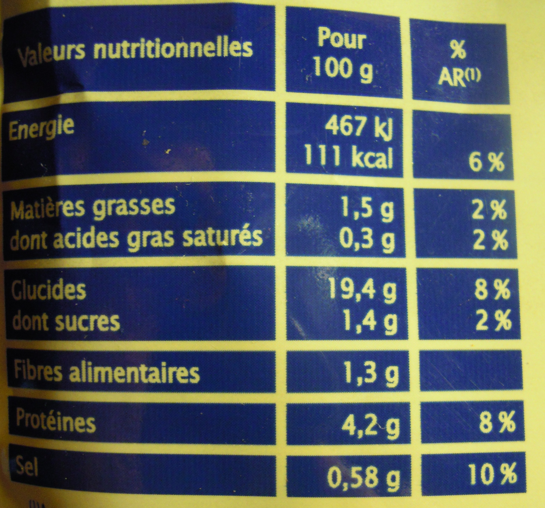 Petites Pâtes au Saumon - Voedingswaarden - fr