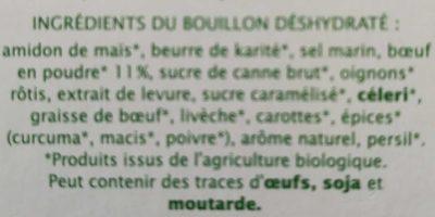 Bouillon Cube Boeuf Pauvre En Sel Sans Gluten - Ingrédients - fr