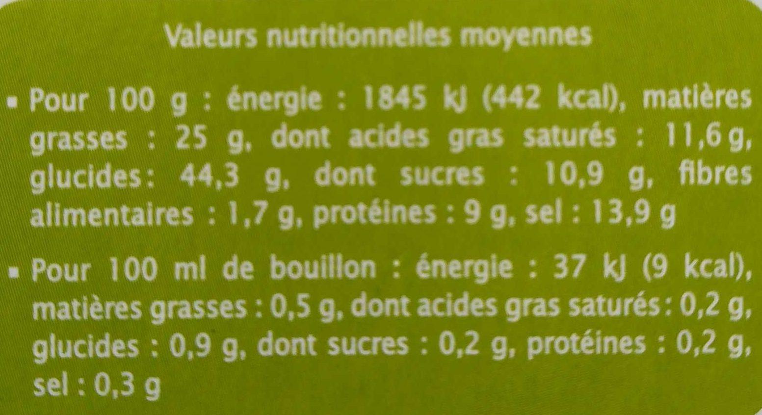 Bouillon Cube Boeuf Pauvre En Sel Sans Gluten - Informations nutritionnelles - fr