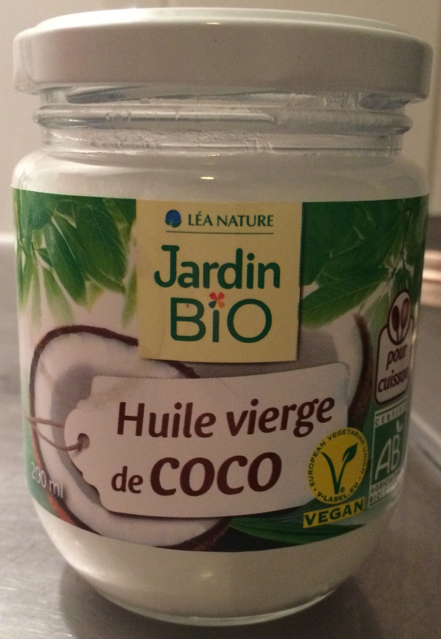 huile vierge de coco jardin bio 184 g 200 ml