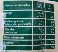 Pois cassés à la paysanne Bio - 300 g - Jardin Bio - Voedingswaarden - fr