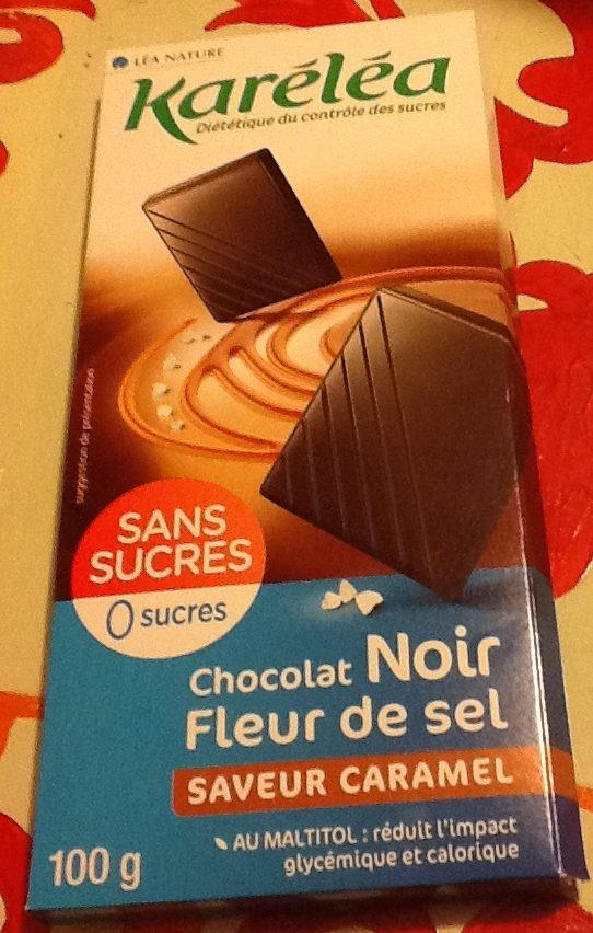 Chocolat noir fleur de sel saveur caramel - Product