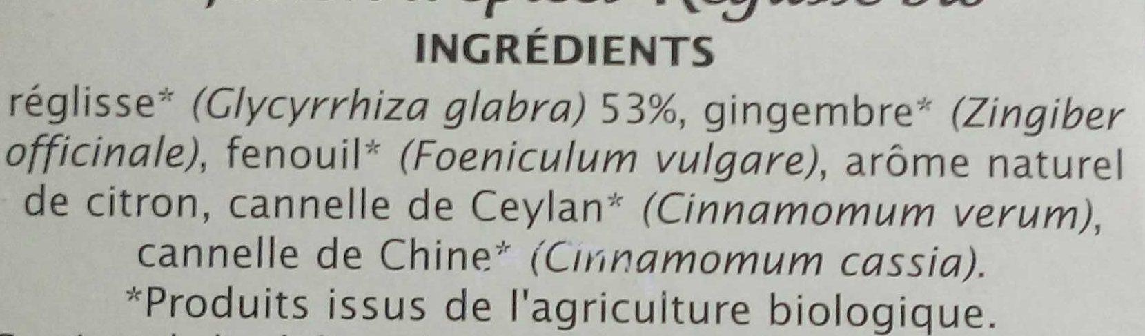 Licorice - Ingrédients