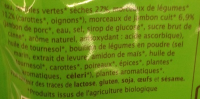 Lentilles façon petit salé - Ingrediënten - fr