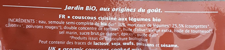 Couscous aux légumes du soleil - Ingrédients - fr