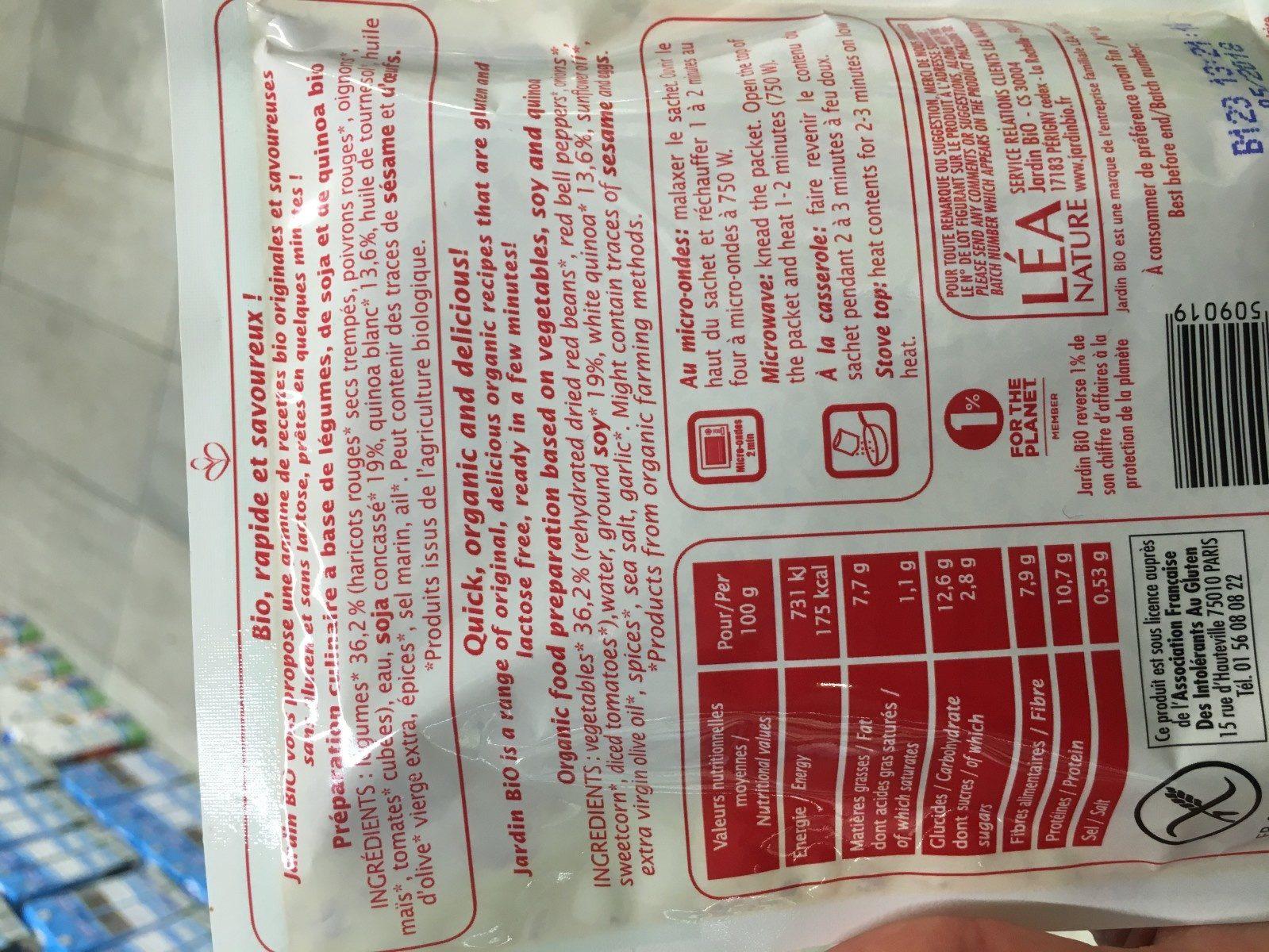 Mélange Gourmand Soja Et Quinoa Bio - Ingrédients