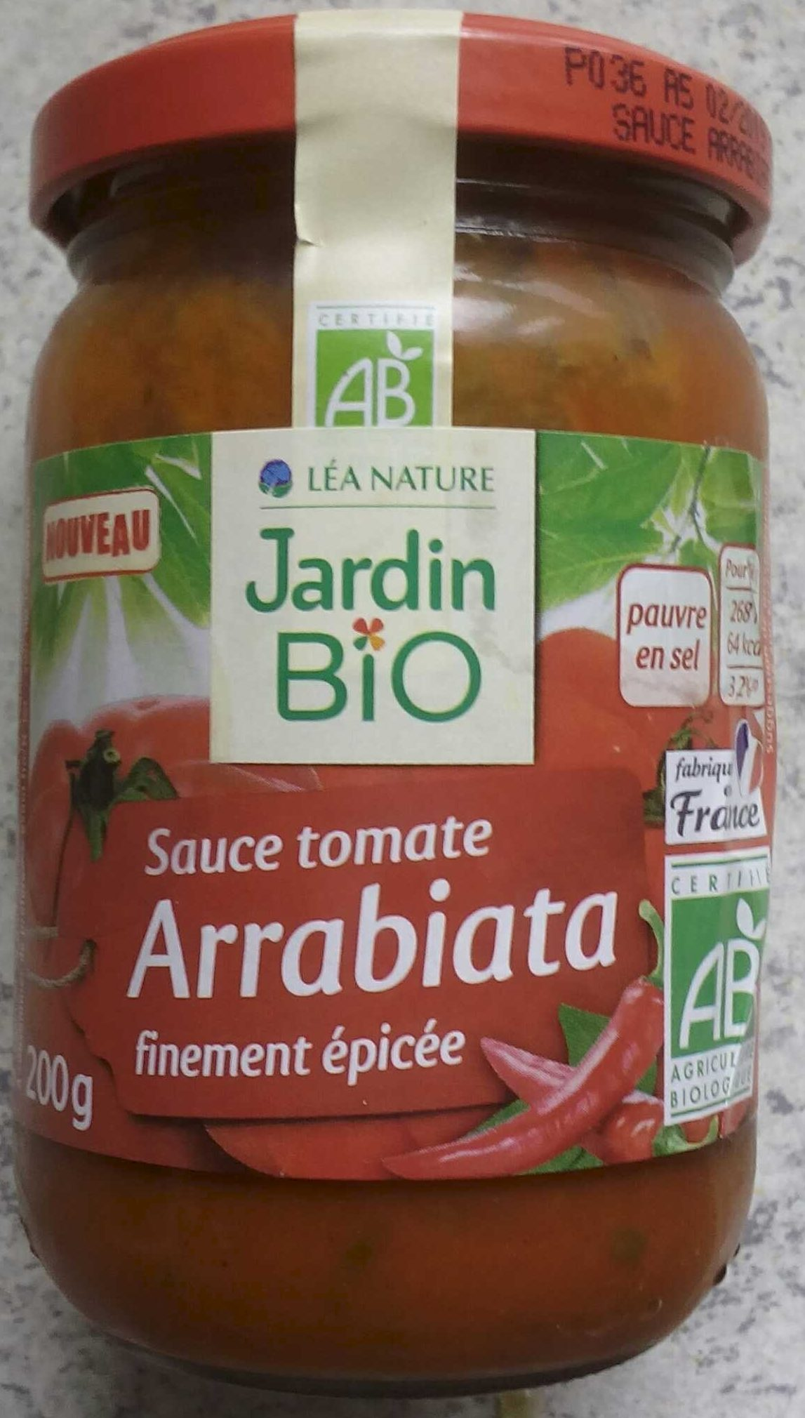 Sauce tomate arrabiata finement pic e jardin bio 200 g for Sauce tomate cuisinee