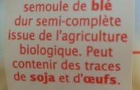 Coquillettes Semi-Complètes - Ingrediënten - fr