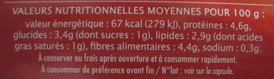Sauce bolognaise Bio - Voedigswaarden