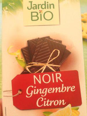 Tablette Chocolat Noir Gingembre Citron Bio - Product