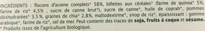 Mini Coeurs Céréales Pommes - Ingrédients