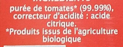 Purée de tomate - Ingredienti - fr