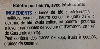 GALETTES PUR BEURRE SANS SUCRES - Ingredients - fr