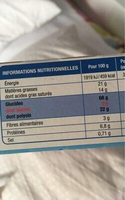GALETTES PUR BEURRE SANS SUCRES - Nutrition facts - fr